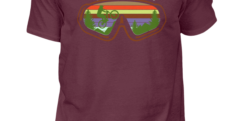 "T-Shirt ""Love The Ride Goggles"" Herren"