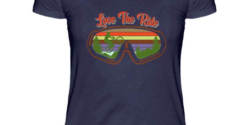 "T-Shirt ""Love The Ride Goggles"" Damen"