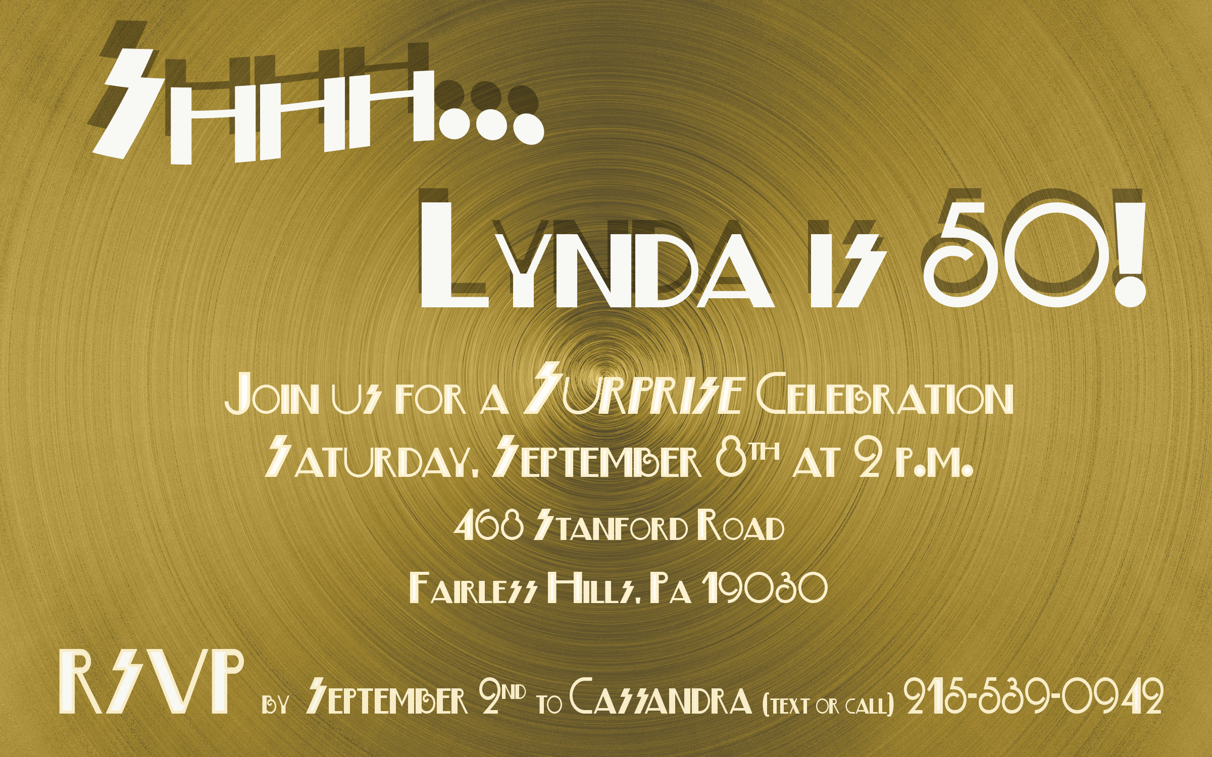 Design Sample - Invitation