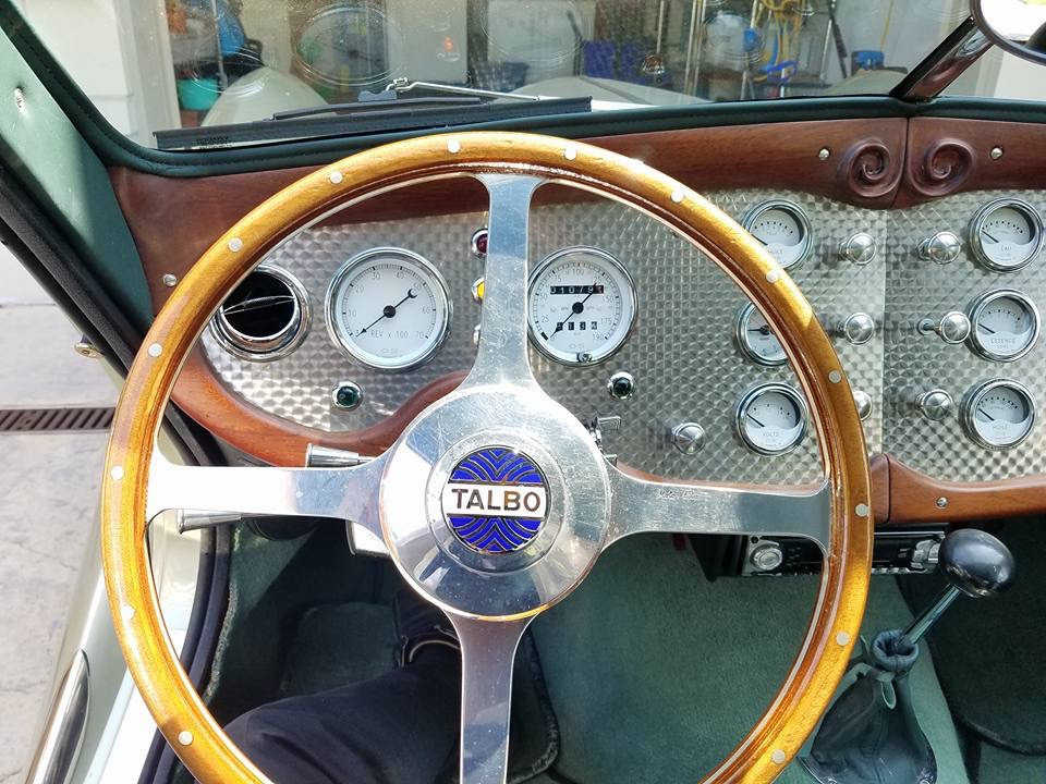 Turned stainless steel dash