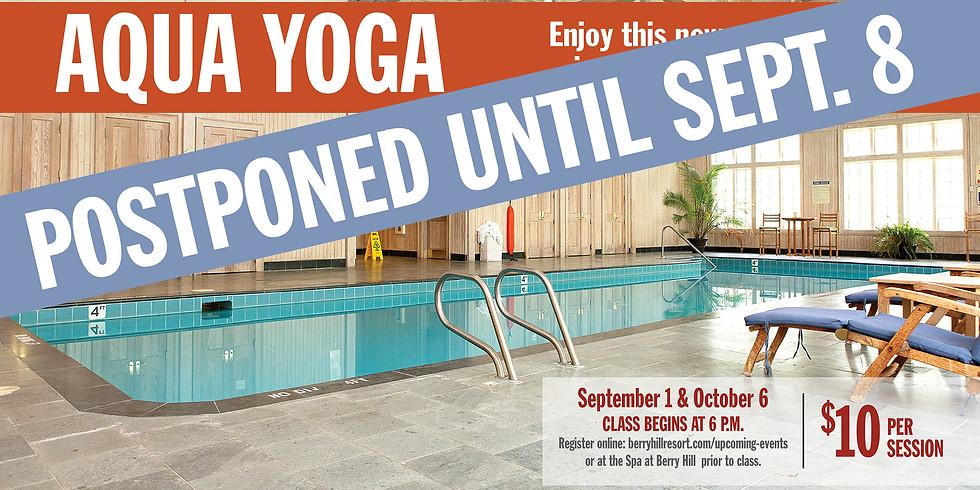 Aqua Yoga with Patsy Hamlett - postponed until Sept. 8