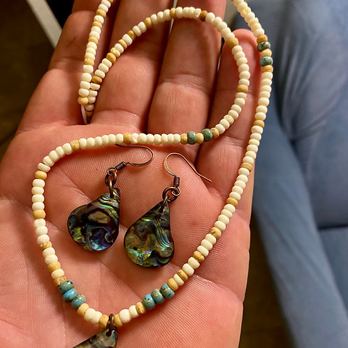 Abalone Necklace/Earrings (Subtle Look)