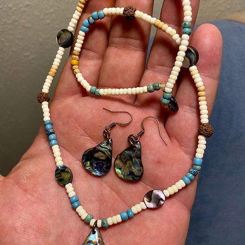 Abalone Necklace/Earrings