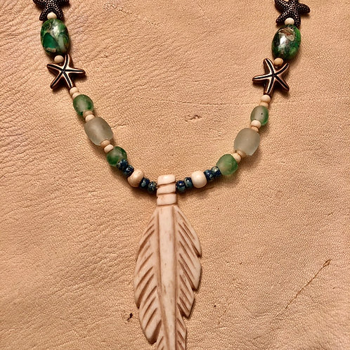 Beach Feather Necklace (FREE SHIPPING)