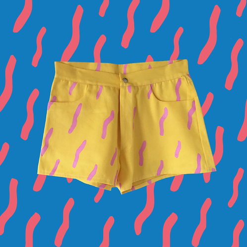 Squiggle Cotton Shorts