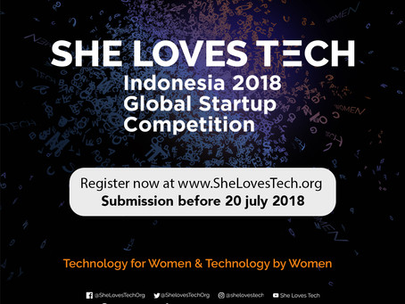She Loves Tech 2018 Global Startup Competition