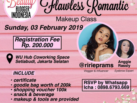 Flawless Romantic Makeup Class by Beauty Blogger Indonesia (Paid Event)