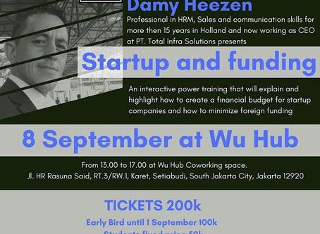 Startup and Funding Seminar by Damy Heezen