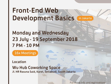 WU Hub X Hacktiv8: Front End Web Development Basics Class is Opened!
