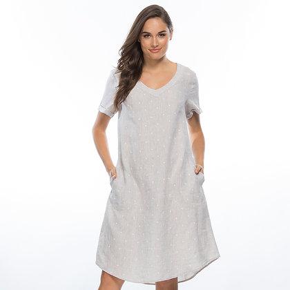 SPOT LINEN DRESS