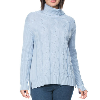 CROSS KNIT COWL NECK JUMPER