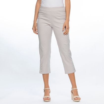 STRETCH TWILL CROP BUTTON PANT