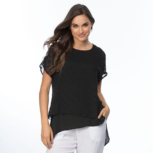 BURN OUT SPOT LAYERED TOP