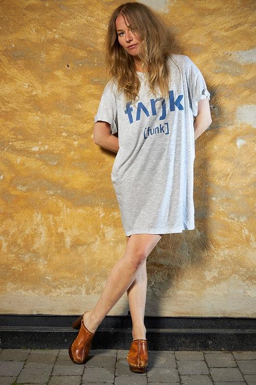 Gray Funk Tee Dress / Oversized Tee