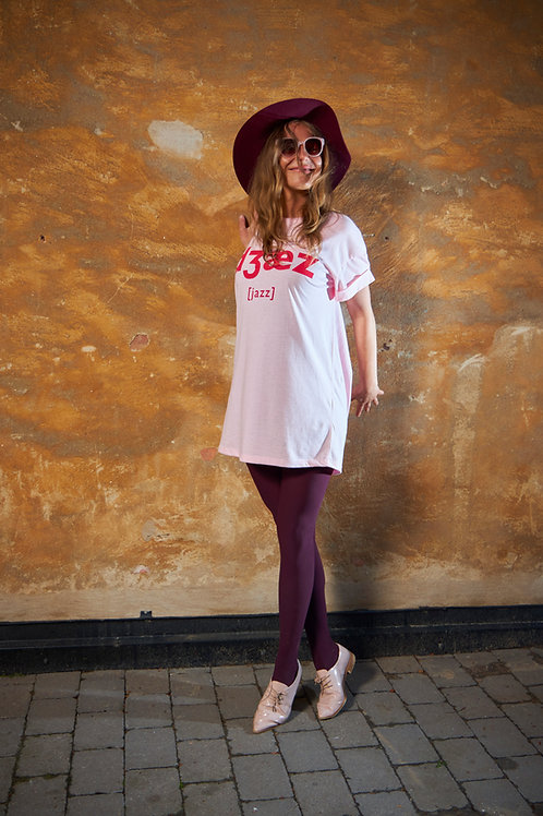 Pink Jazz Tee Dress / Oversized Tee