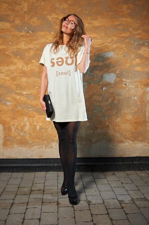 Ecru Soul Tee Dress / Oversized Tee