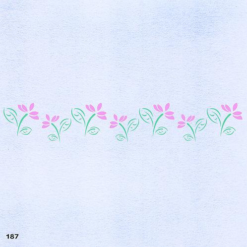 187 שבלונה בורדר עיטורי צמחים