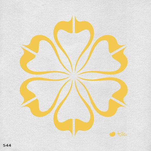 544 שבלונה פרח בסגנון גרפי