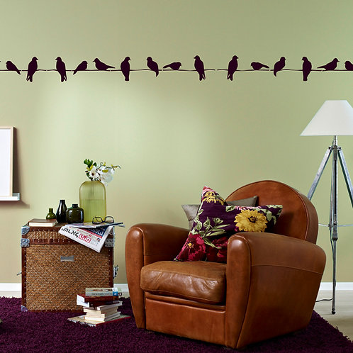 419 שבלונה ציפורים על חוט חשמל