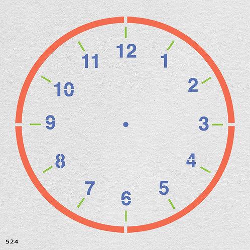 524 שבלונה שעון קיר