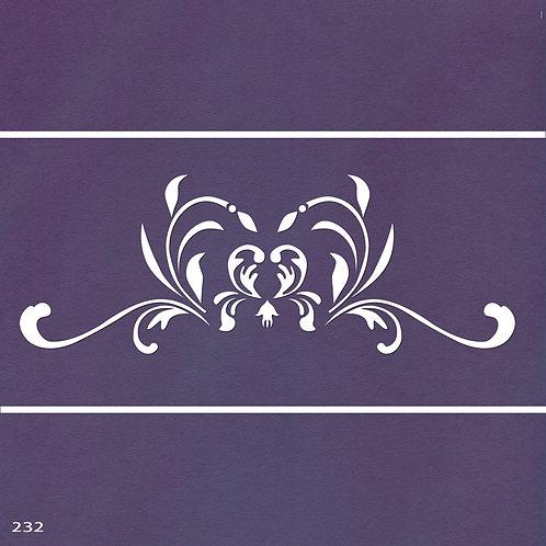 232 שבלונה עיטור עדין בסגנון קלאסי