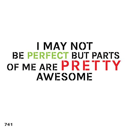 741 שבלונה I MAY NOT BE PERFECT...