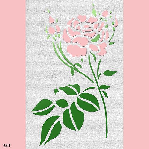 121 שבלונה פרחים - ורד