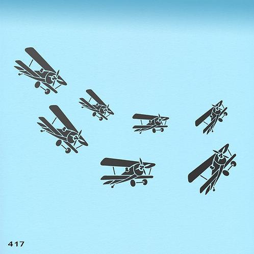 417 שבלונה להק מטוסי פייפר