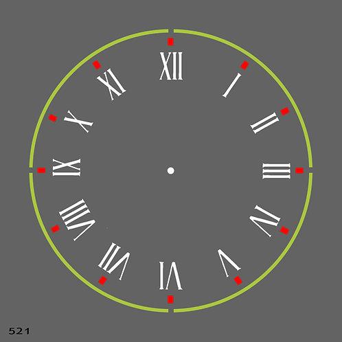 521 שבלונה שעון קיר