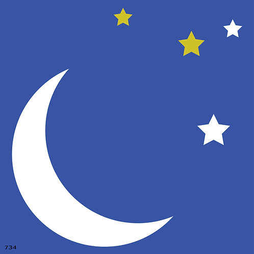 734 שבלונה ירח וכוכבים