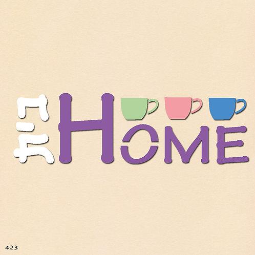 423 שבלונה HOME בית בסגנון גרפי