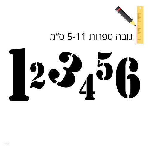 שבלונת ספרות לקישוט 335