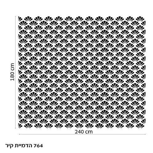 764 שבלונה טפט בדוגמת מניפה בסגנון גאומטרי