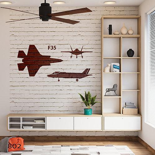 802 שבלונה מטוס קרב F35
