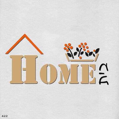 422 שבלונה HOME בית בסגנון גרפי