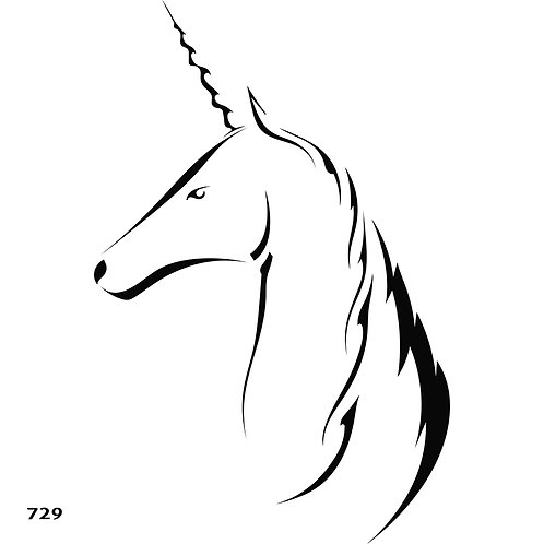 729 שבלונה חד קרן