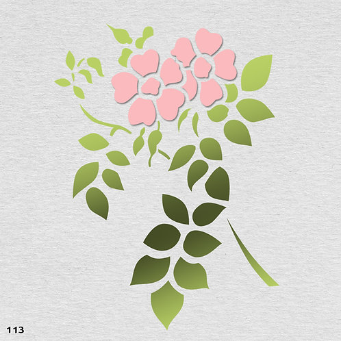113 שבלונה פרחים -  זוג ורדים
