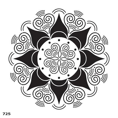 725 שבלונה מנדלה בסגנון הודי