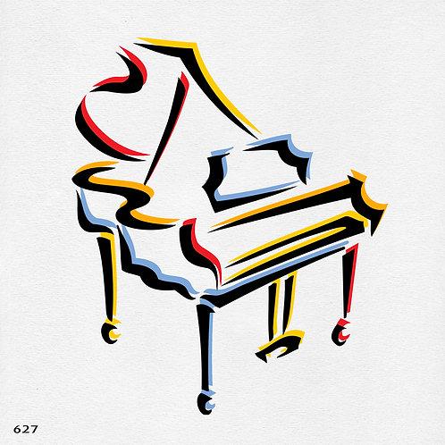 627 שבלונה פסנתר
