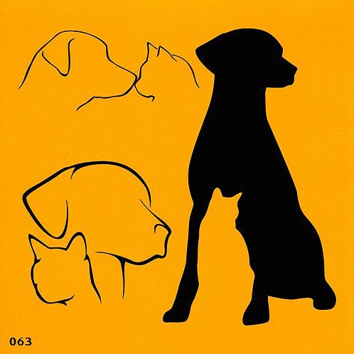 063 שבלונת כלב וחתול