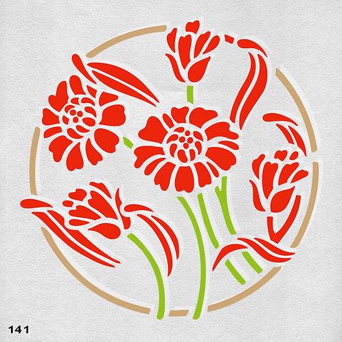 141 שבלונה פרחים