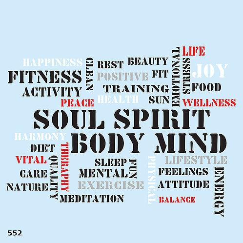552 שבלונה SOUL SPIRIT BODY