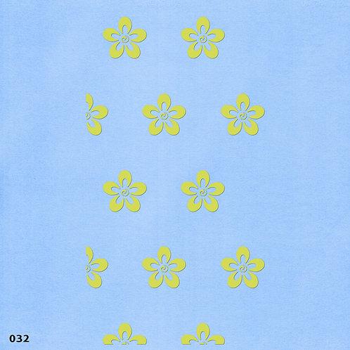032 שבלונה טפט בדוגמת פרחים