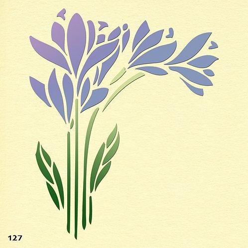 127 שבלונה פרחים בסגנון ארט דקו