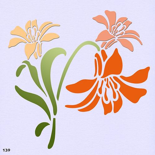 139 שבלונה פרחים - חבצלות