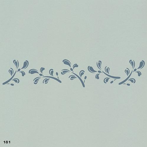 181 שבלונה בורדר עיטורי צמחים