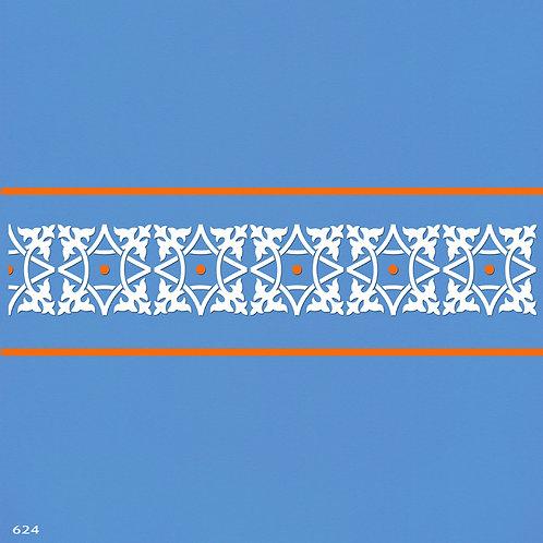 624 שבלונה בורדר עיטור קלאסי
