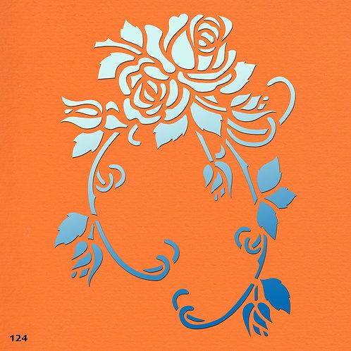 124 שבלונה פרחים - זר ורדים
