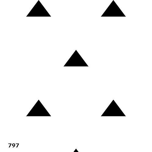 797 שבלונה טפט בדוגמת משולשים