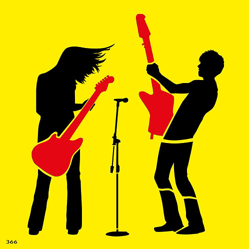 366 שבלונה גיטריסטים בהופעה